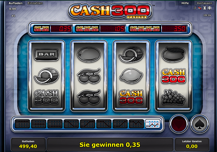 Cash 300 Gewinn