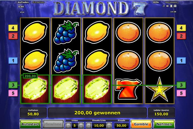 Diamond 7 Gewinn