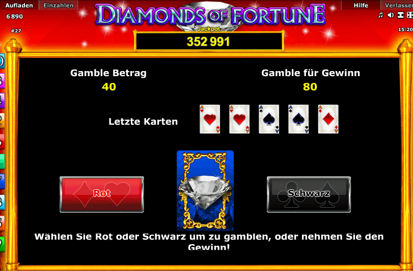 Diamonds of Fortune Gamble