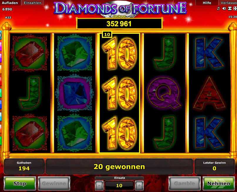 Diamonds of Fortune Gewinn