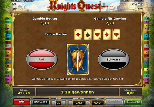 Knights Quest Gamble