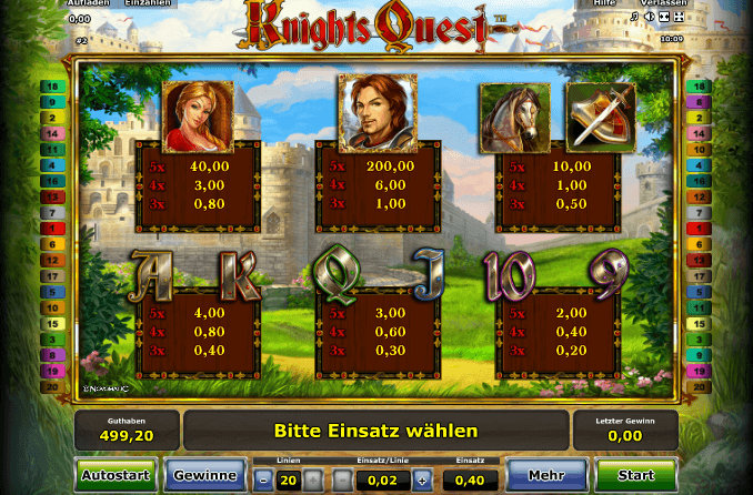 Knights Quest Symbole