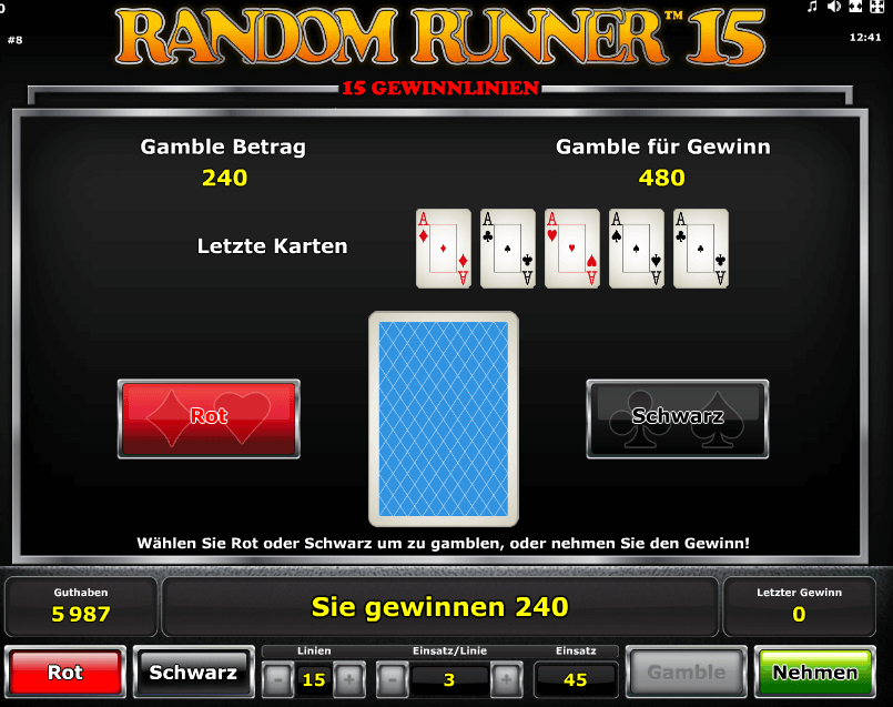Random Runner 15 Gamble