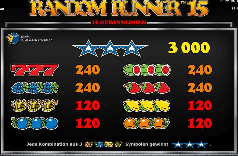 Random Runner 15 Symbole