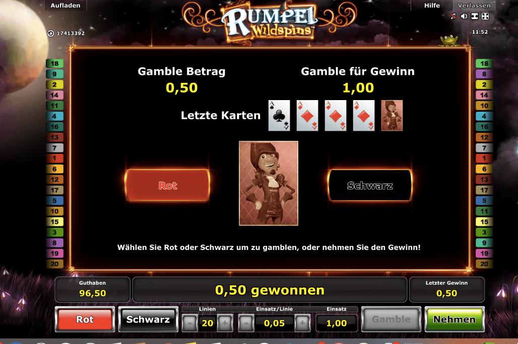 Rumpel Wildspins Gamble