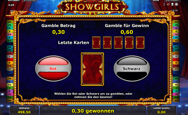 Showgirls Gamble