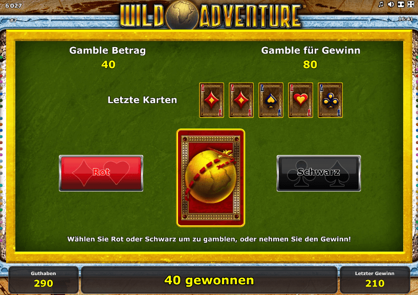 Wild Adventure Gamble