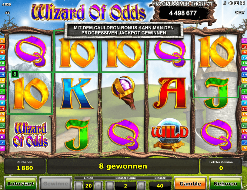 Wizard of Odds Game